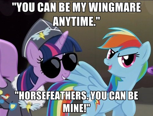 the wonderbolts,top gun,twilight sparkle,rainbow dash