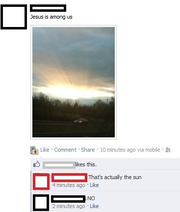 jesus,god,The Sun,facebook