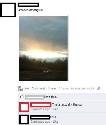 jesus god The Sun facebook - 8137083648