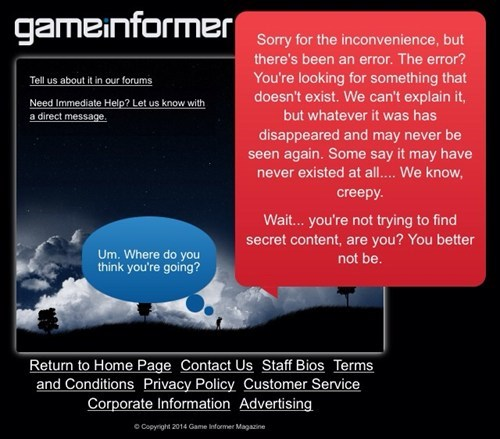 GameInformer Has a Funny 404 Screen