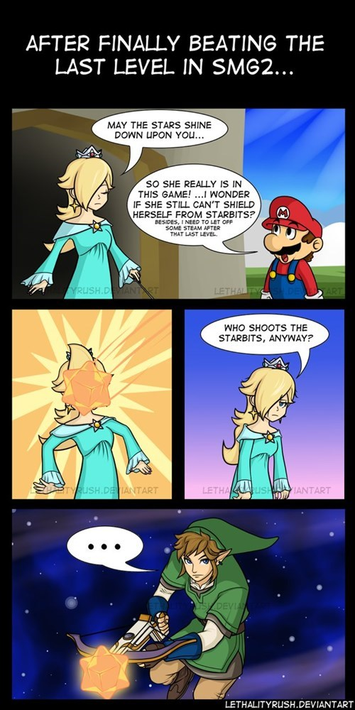 Super Mario Galaxy starbits web comics - 8137736192