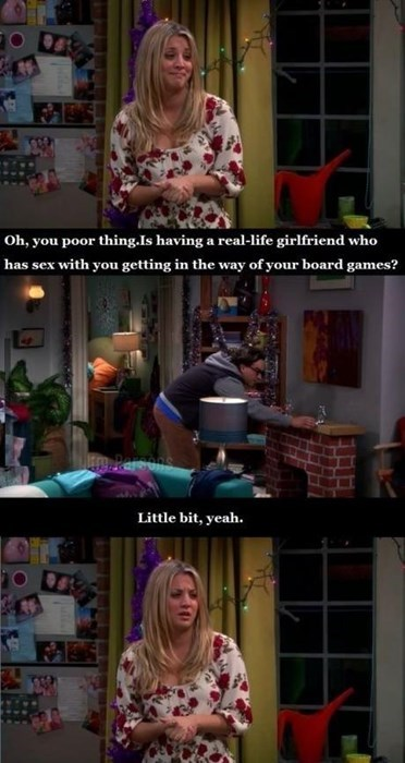 big bang theory,board games,girlfriend,sexy times
