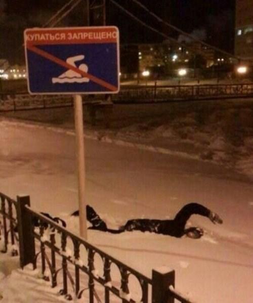 snow swimming - 8137795584
