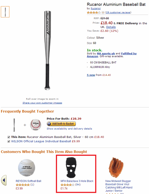stupid criminals amazon balaclava baseball bats customers also bought ski mask - 8138170368