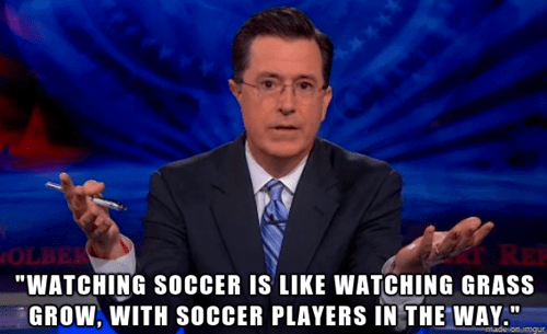 sports,stephen colbert,the colbert report,soccer,football