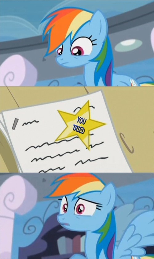 consolation prize test rainbow dash