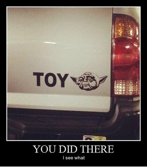 star wars cars yoda funny toyota - 8138242816