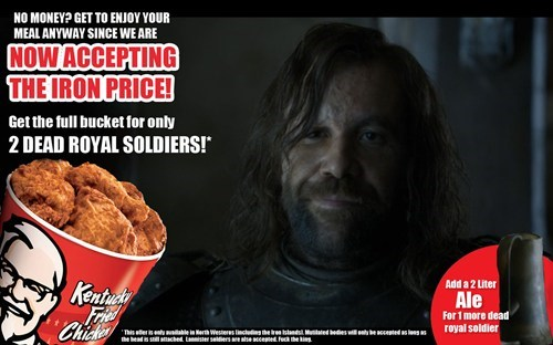 the hound Game of Thrones season 4 - 8138265856