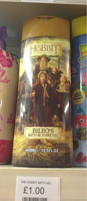 monday thru friday work puns The Hobbit shower gel product name g rated - 8138404352
