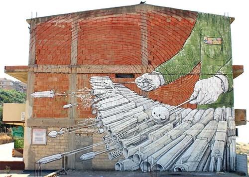 Street Art mural hacked irl - 8138484736