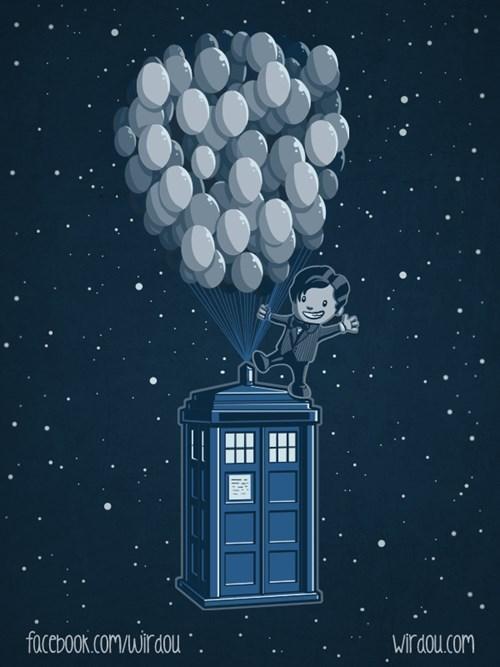 Fan Art tardis 11th Doctor pixar - 8138549504