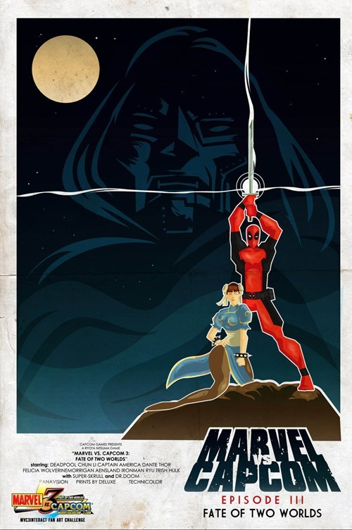 marvel vs capcom,poster,deadpool