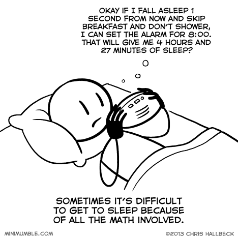 math,sleeping