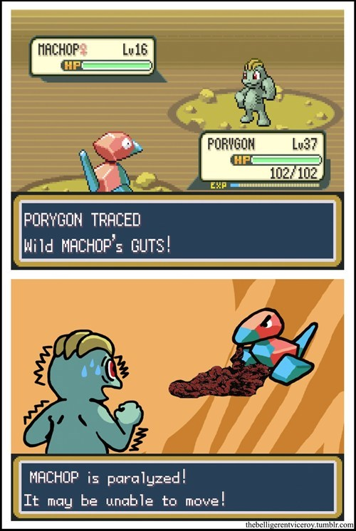 Pokémon,machop,porygon,web comics
