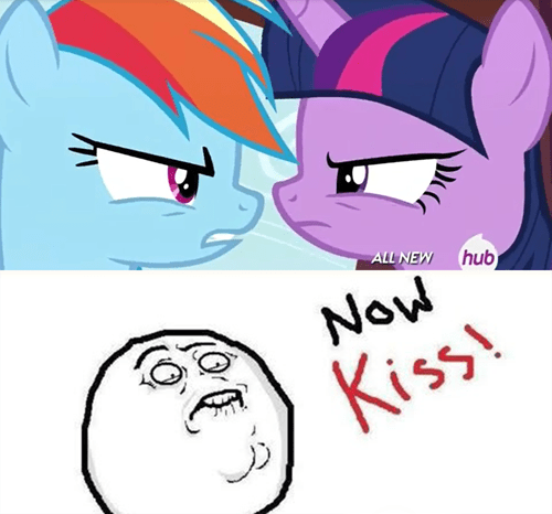 twilight sparkle now kiss rainbow dash - 8139038976