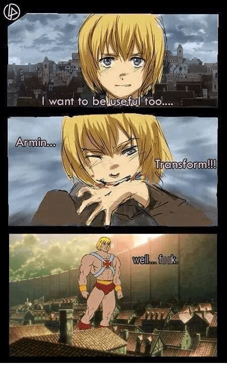 anime,he man,attack on titan
