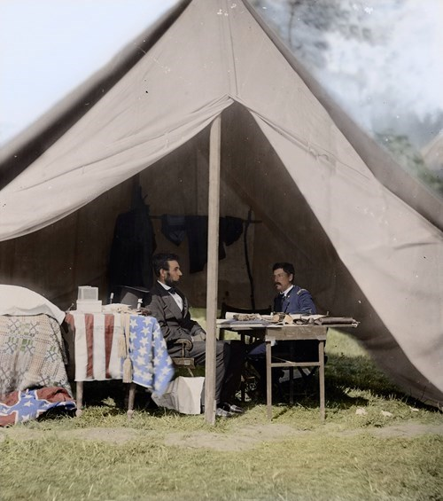 abraham lincoln history colorized photos civil war - 8139402496
