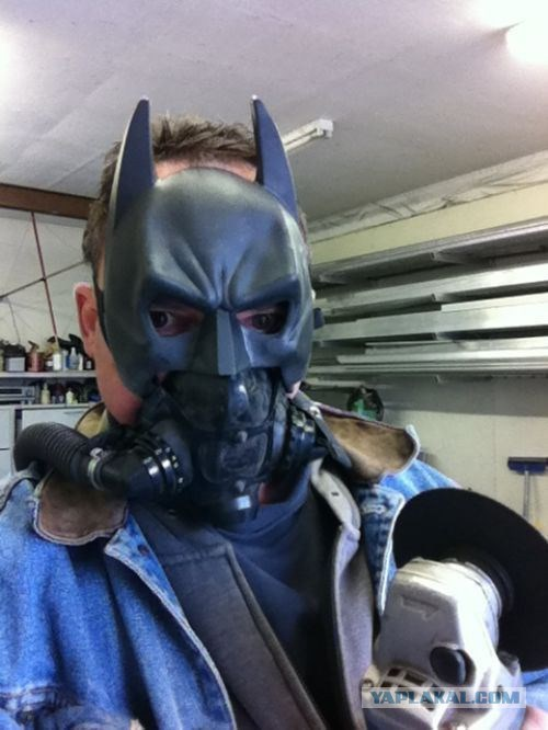 poorly dressed,mask,power tools,batman