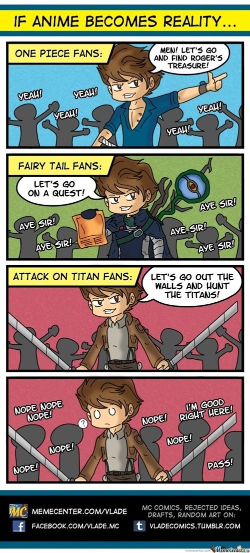 anime Fan Art fairy tail attack on titan one piece web comics - 8139626240