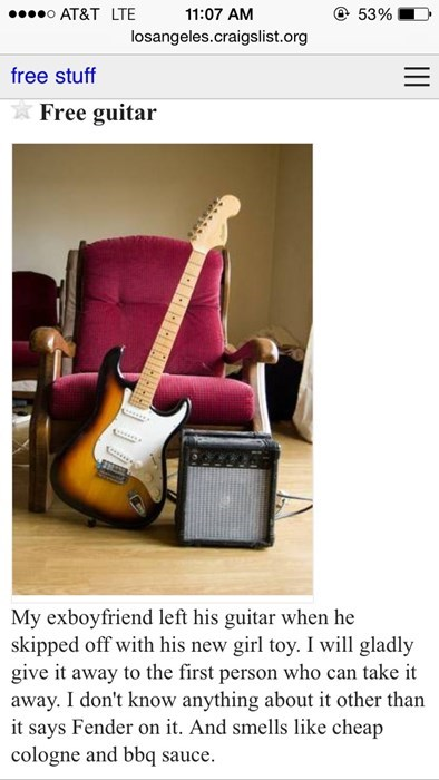 guitar craigslist breakup dating g rated - 8139634688