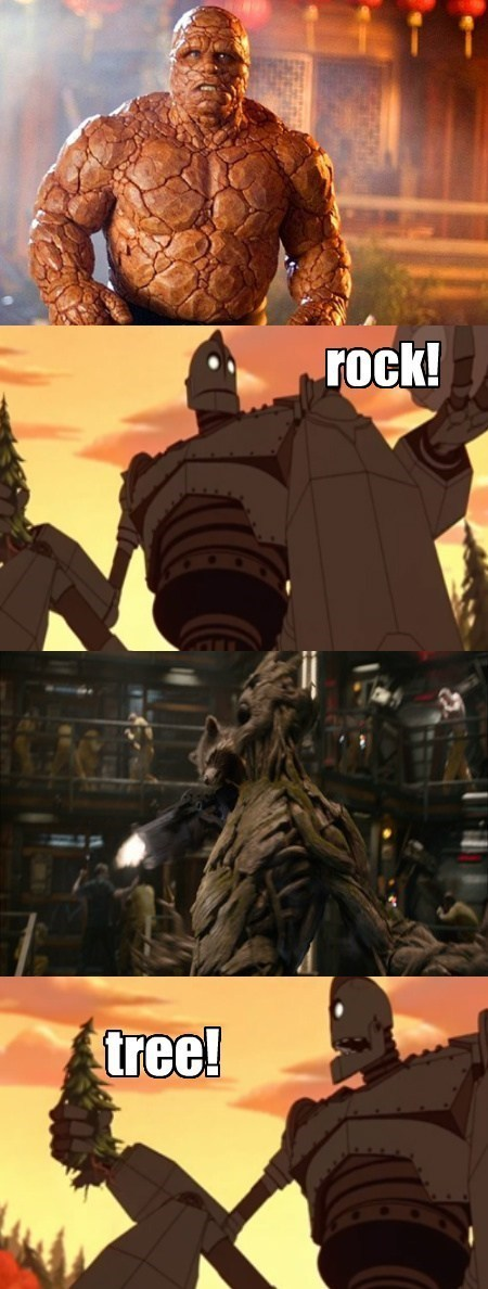 The Thing the Iron Giant groot - 8139702016