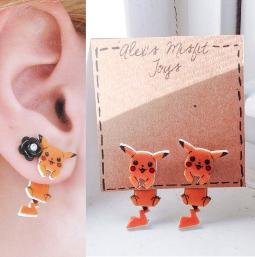 etsy,earrings,pikachu