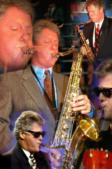 slick willy jazz president saxophone bill clinton