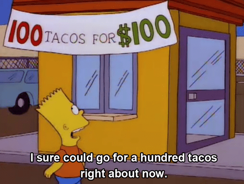 deal,tacos,the simpsons