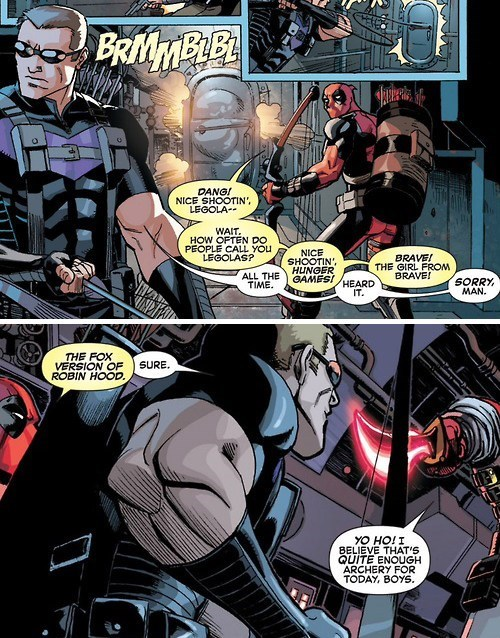 deadpool Straight off the Page hawkeye - 8139835392