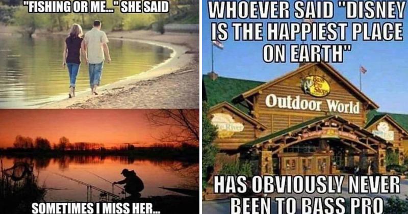 Funny memes, ironic memes, ironic fishing memes, fishing memes, bass pro memes.