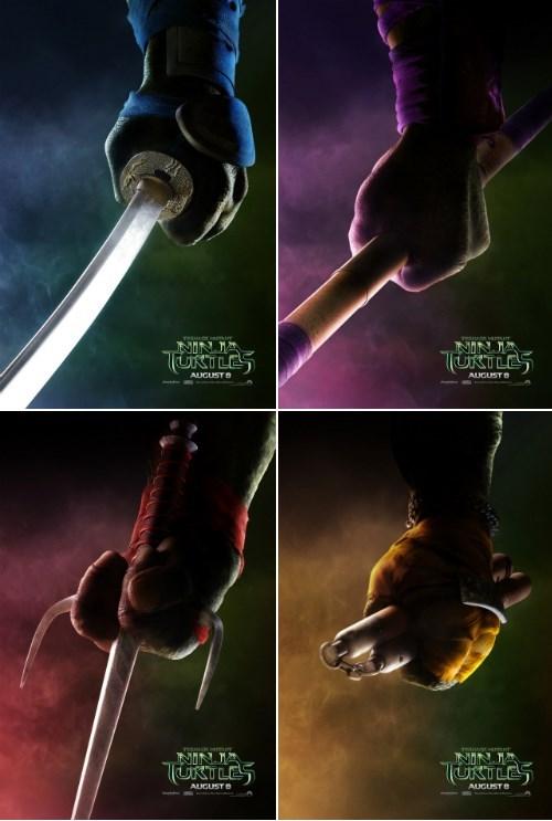 minimalist TMNT movies posters