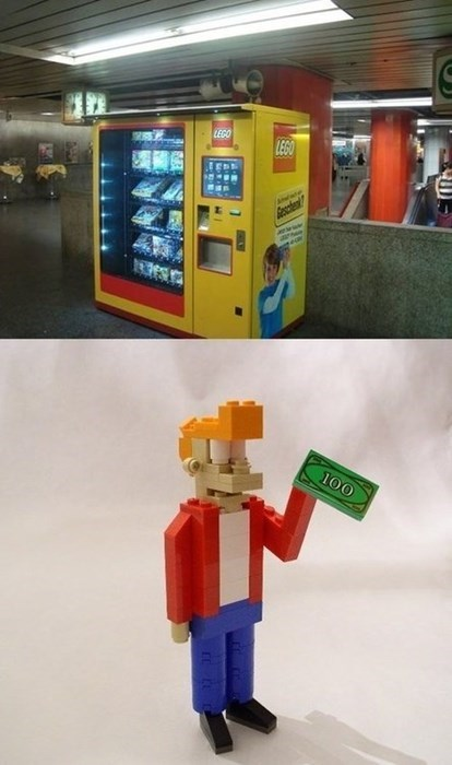 shut up and take my money lego Futurama Fry