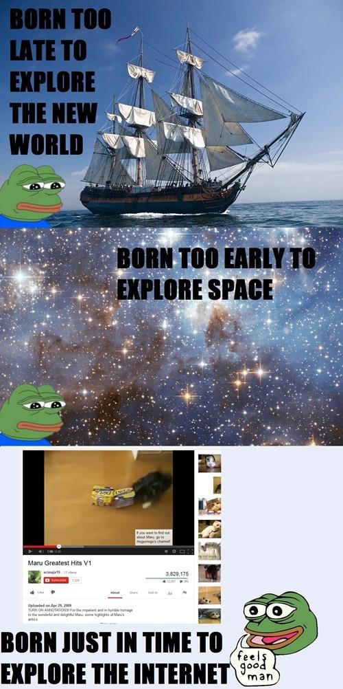 exploration space sad frog - 8140590848