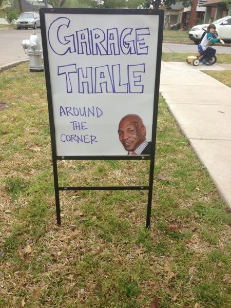 celeb,garage sale,mike tyson