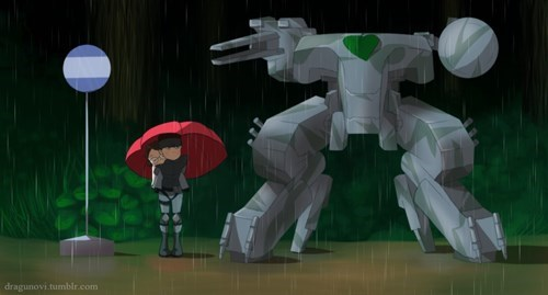 my neighbor totoro,Fan Art,metal gear,mash ups