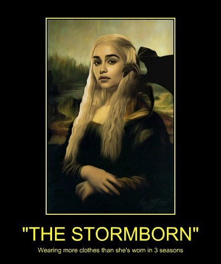 daenerys mona lisa Game of Thrones funny - 8141112064