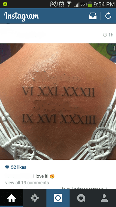 roman numerals what tattoos numbers Ugliest Tattoos failbook - 8141172480