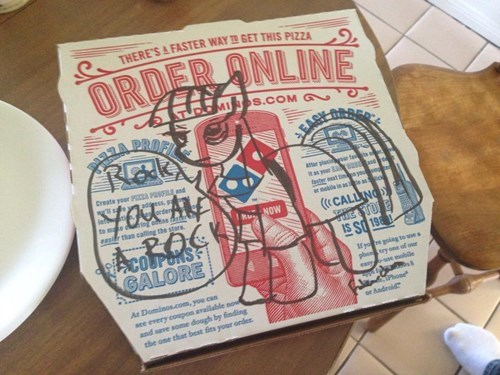dominos pizza box maud pie - 8142052608