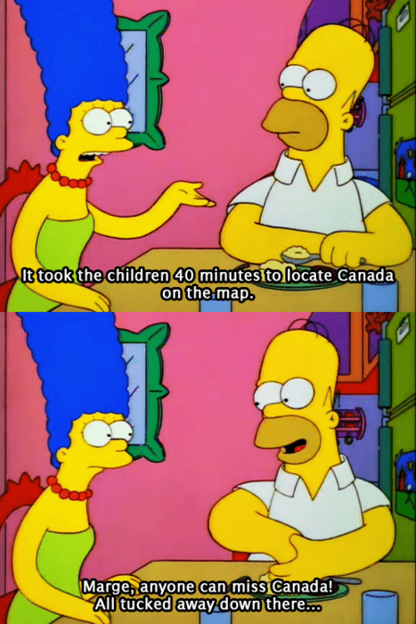 homer simpson Canada the simpsons - 8142173184