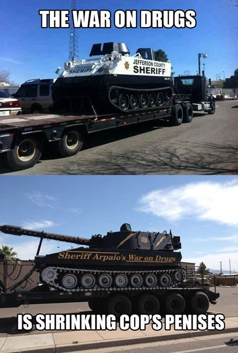 cops drugs tanks War On Drugs police - 8142179072