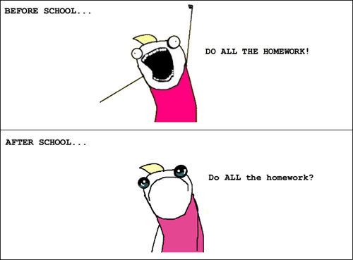 all the things,homework