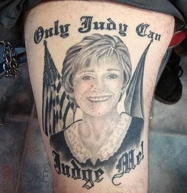 crazy celeb Judge Judy tattoos