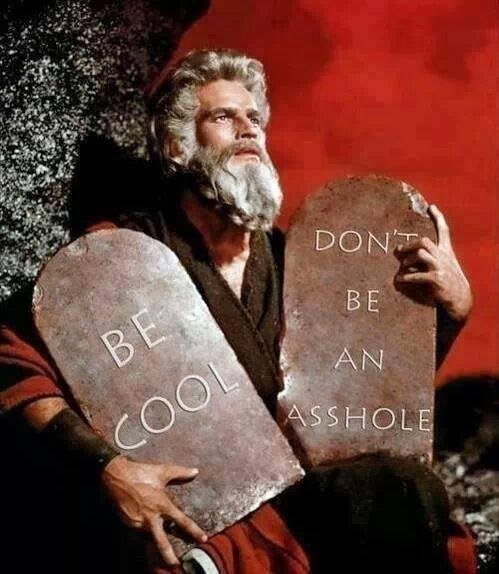 moses the ten commandments the bible - 8142475776