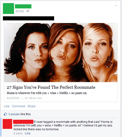 men vs women roommate - 8143097088
