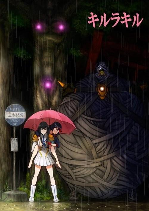 anime crossover my neighbor totoro Fan Art kill la kill - 8143424512