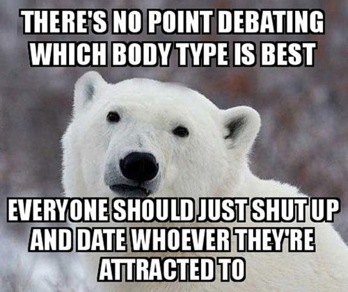 body types dating popular opinion polar bear - 8143439616