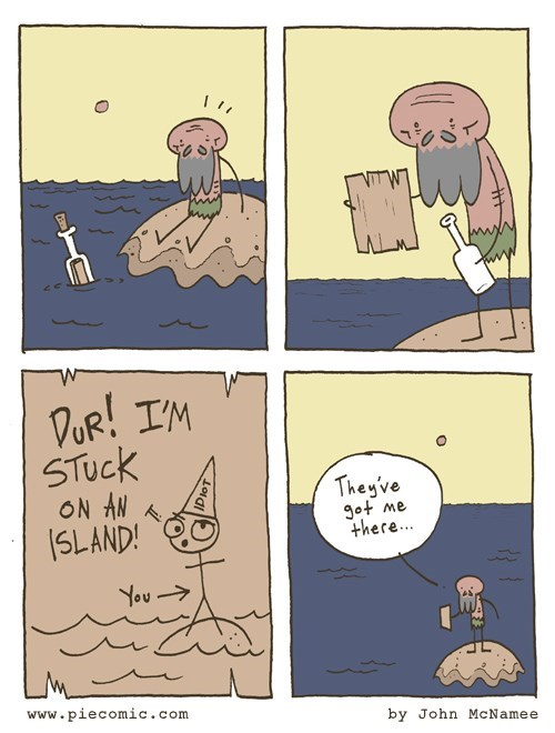bottle,island,web comics