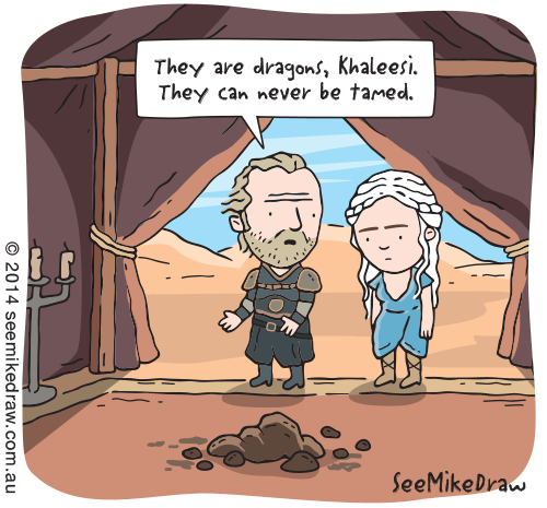 Game of Thrones Fan Art dragons web comics - 8143582208