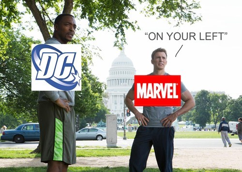 on your left,marvel,DC,captain america
