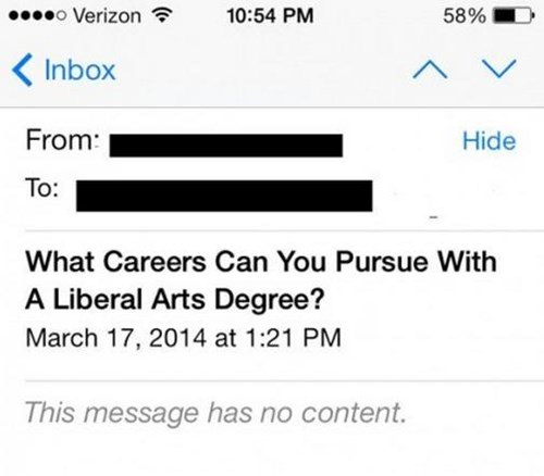 FAIL,liberal arts,school